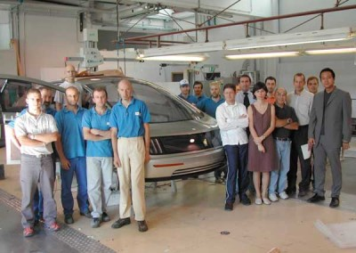 Hy-Wire Team in Italy with Stile Bertone